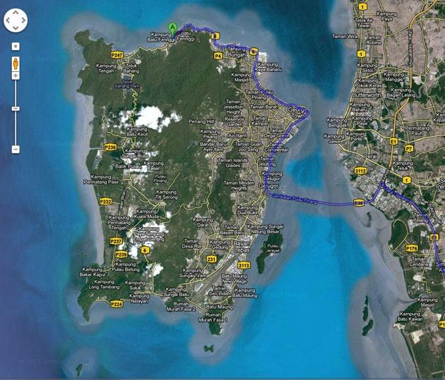 خريطة بينانج