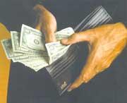 محفظة نقود , محفظة , مال